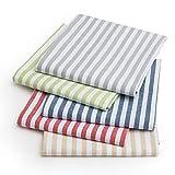 FILU Servietten 8er Pack Grau/Weiß gestreift (Farbe und Design wählbar) 45 x 45 cm - Stoffserviette aus 100% Baumwolle im skandinavischen Landhausstil - 7