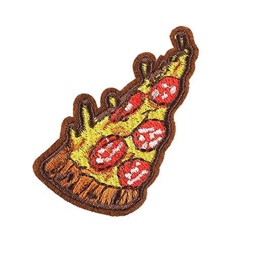 Fablcrew – Lote de 10 parches bordados en forma de Pizza, parche para coser, para ropa, camisetas, vaqueros, chaquetas