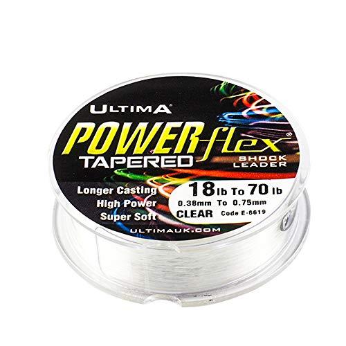 Ultima Powerflex Tapered Leader 5 / Spule, Transparent, 12.0lb/5.5kg < 30.0lb/13.6kg