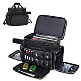 Trunab Tabletop RPG Adventurer's Travel Bag Compatible with Dungeons and Dragons Large DND Bag with Miniatures' Foam Layer, Battle Mat Storage Bag, Fits Player's Handbook, DM's Guide, Dice & More