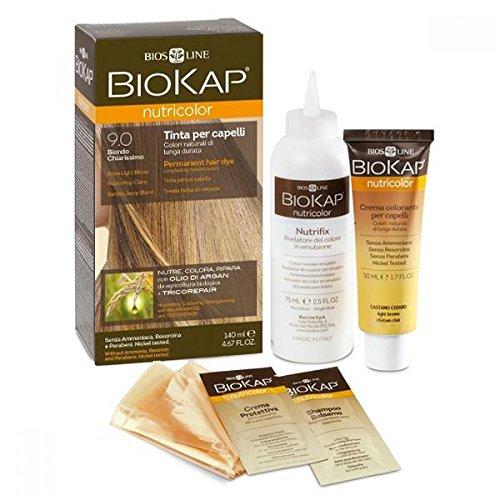 Bios Line 53809 Biokap Nutricolor 9.0, Biondo Chiarissimo