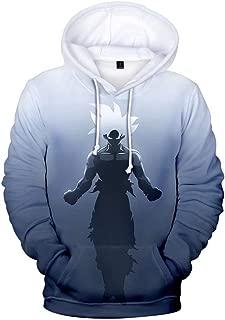 paloli Men Dragon Ball Hoodie 3D Print Sun Wukong Pullover Hoodie Sweatshirt with Big Pocket