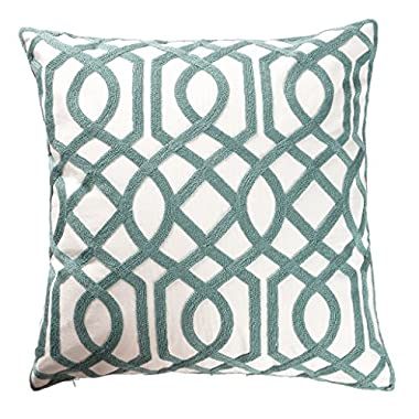 ButiShop Cotton Embroidery Pillows Decorative Throw Pillows,Sacred Geometry Art Pillow Cover Cushion Cover for Living Room, 18x18 Inch,