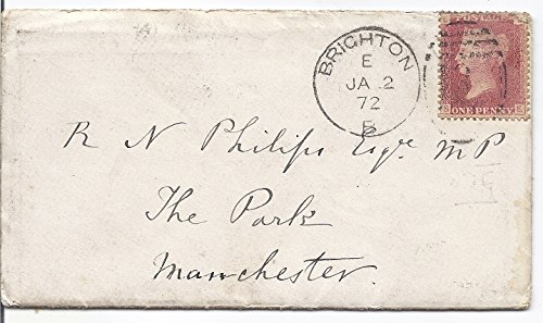 1872 Postal Cover With Letter ,1 Penny Queen Victoria Postage Stamp Canceled January 2,1872