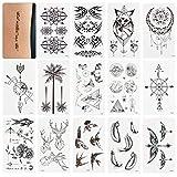 WOWOSS 60 Feuilles Tatouages Temporaires pour Adultes Autocollants Tatouages Ephémères Étanche pour Bras, Jambe et Visage (60 motifs variés)