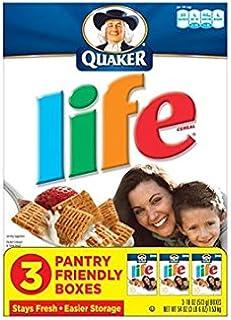 Quaker, Life Cereal, Original, 18oz Box (Pack of 3)