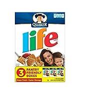 クエーカー、生命の穀物、オリジナル、18 オンス ボックス (パックの 3 Quaker, Life Cereal, Original, 18oz Box (Pack of 3)