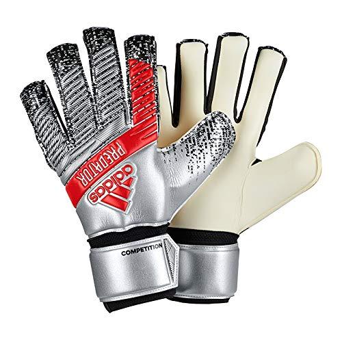 Adidas Predator Competition - Guanti da portiere da calcio, colore argento metallico/nero, 5