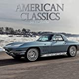 2019 Wall Calendar - Classic Cars Calendar, 12 x 12 Inch Monthly View, 16-Month, Automobile Theme with American Classics, Includes 180 Reminder Stickers