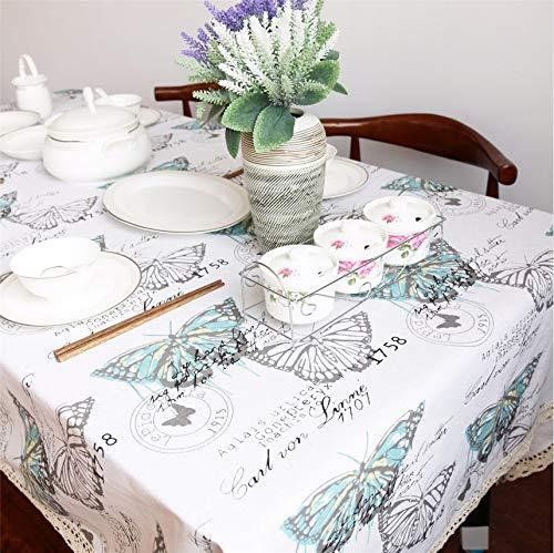 Djkaa Beddengoed Outlet vlinder tafelkleed katoen linnen tafelkleed insect macramé decoratie lace tafelkleed pasta wasbaar