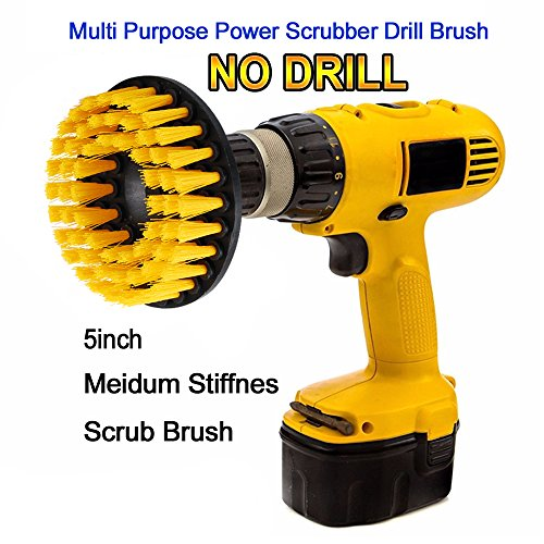 Oxoxo Power Drill Verbindingsborstel voor het reinigen van douches, badkuipen, badkamer, tegels, gieten, tapijten, banden, boten 5