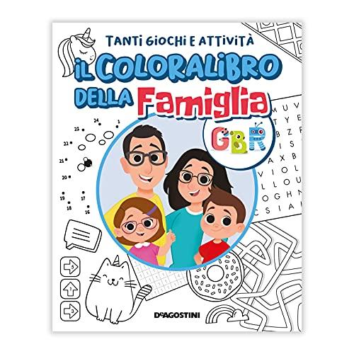 Il Colora Libro della Famiglia GBR: disegni da colorare e giochi per bambini