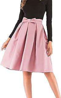 8639cee951d7a VEZAD High Waist Pleated A Line Long Skirt Women Front Slit Belted Maxi  Skirt