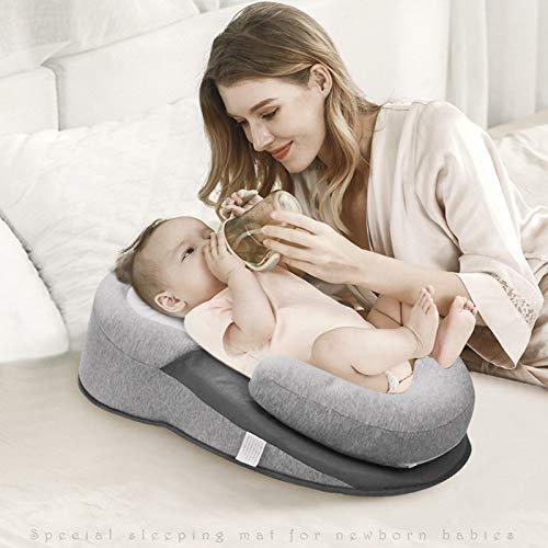 Babykissen Neugeborene Schlafunterstützungskissen Konkave Weiche Cartoon Kleinkindkissen Verhindern Sie Flachkopf-Babykissen Refluxbett