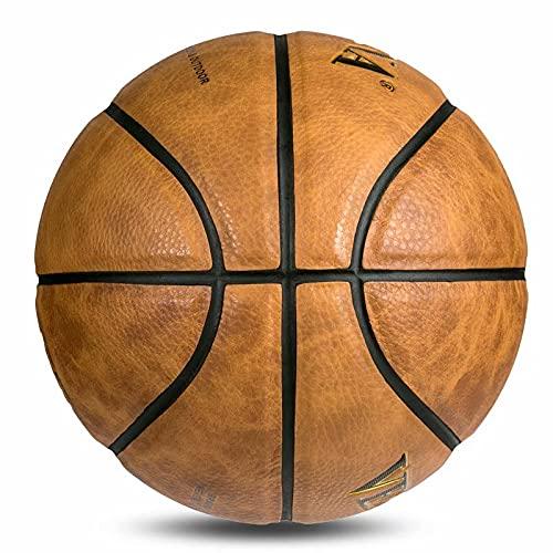 No. 7 Baloncesto de Pelo con Flecos, Competencia de Estudiantes en Interiores y Exteriores, Bola Azul Gruesa Resistente al Desgaste de hormigón