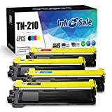 INK E-SALE Compatible Toner Cartridge Replacement for Brother TN210 TN-210(KCMY, 4-Pack), use for Brother HL-3040CN HL-3045CN HL-3070CW HL-3075CW MFC-9010CN MFC-9120CN MFC-9125CN MFC-9320CW MFC-9325CW