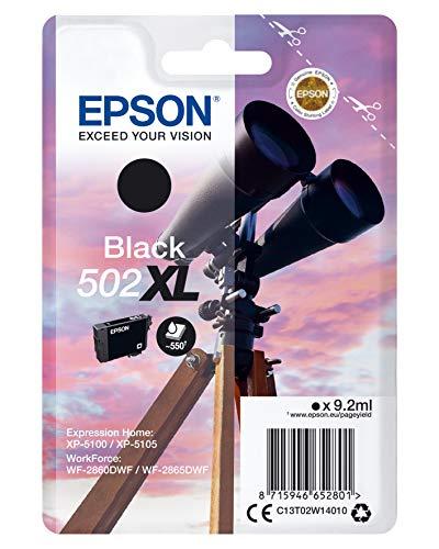 Epson 502 Serie Binocolo, Cartuccia originale getto d'inchiostro, Formato XL, Nero