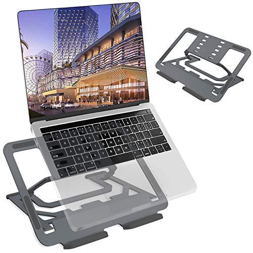 TECOOL Soporte Portátil, Ergónomico Ajustable Aluminio Ventilado Plegable Soporte Ordenador Portátil para Macbook Pro, Air Todas Las Tabletas/Computadoras Portátiles de 9,7