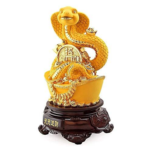 ZHUANYIYI Escultura de Escritorio, Zodiaco Adornos de Serpiente Estatuas coleccionables, Sala de Estar Cabinete de Vino TV Mueble de Mesa Decoración de Escritorio