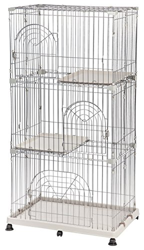 IRIS 3-Tier Wire Pet Cage, Gray
