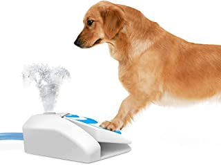 All for Paws Chill Out Dog Garden Water Fountain, Outdoor Pet Water Sprinkler Cooling Toy