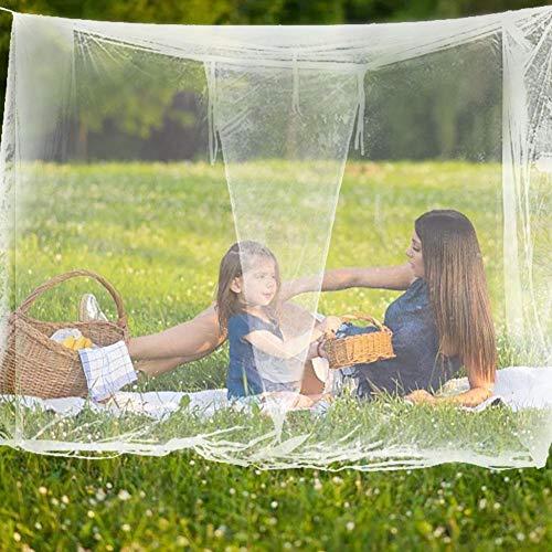 funnyfeng Camping Moskitonetz, Fliegennetz Mückennetz Feinmaschiges Moskitonetz Großes Moskitonetz Quadratische Moskitonetze für Camping Screen House Etagenbett Feinste Löcher Mesh 300