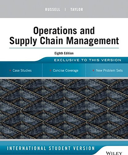Operations and Supply Chain Management: International Student Version