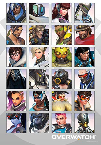 Trends International 8.25x11.75 MDF - Overwatch - Portraits Wall Poster, 8.25' x 11.75' x .197', Unframed Version