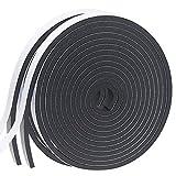 Dichtungsband Selbstklebend, Schaumstoff Dichtungsband 12mm(B) x6mm(D), Moosgummi selbstklebend für...