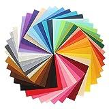 44Pcs Filzstoff Farbig Bastelfilz Steif Vliesstoff DIY
