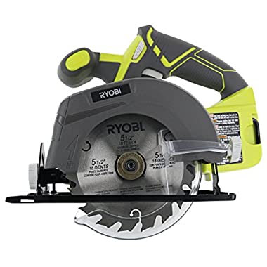 Ryobi One P505 18V Lithium Ion Cordless 5 1/2  4,700 RPM Circular Saw (Battery Not Included, Power Tool Only), Green
