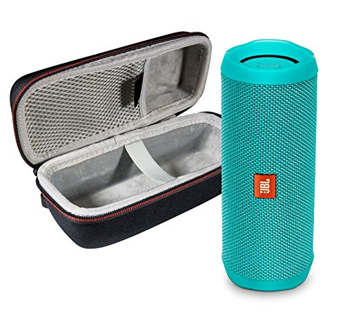 JBL Flip 4 Portable Bluetooth Wireless Speaker Bundle with Protective Travel Case - Teal