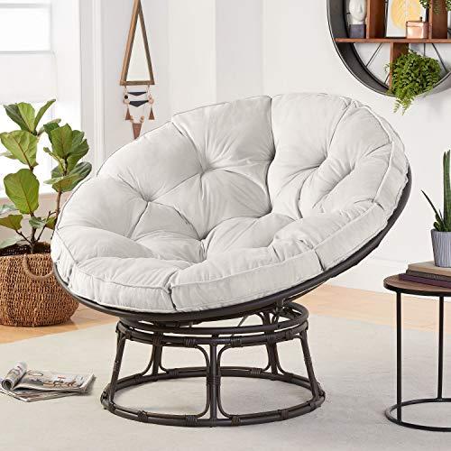 Better Homes & Gardens Papasan Chair with Fabric Cushion, Pumice Gray