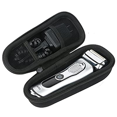 Khanka Hard Travel Case for Braun Series 9 9340s 9242s 9290cc 9296cc 9292 cc9260PS 9240s Men's Electric Foil Shaver Wet and Dry Rechargeable and Cordless Razor. (Case only)