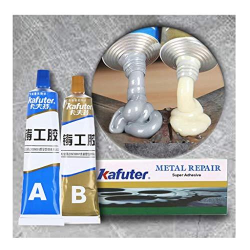 Iusun Metal Repair Paste,Industrial Heat Resistance Cold Weld Metal Repair Paste A&B Adhesive Gel for Industrial Tool Automotive Accessories (White)