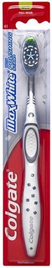 漏れ覚醒元に戻すColgate マックスホワイト完全な頭部歯ブラシ、中1 Eaは(1つの単位のパック)