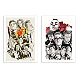 Wall Editions 2 Art-Posters 30 x 40 cm - Tarantino and