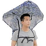 Sombrero De Sombrilla De Pesca Al Aire Libre Sombrilla De Protección Solar Montada En La Parte Posterior Para Pesca, Jardinería, Fotografía, Caminar, Caminar Y Acampar,A