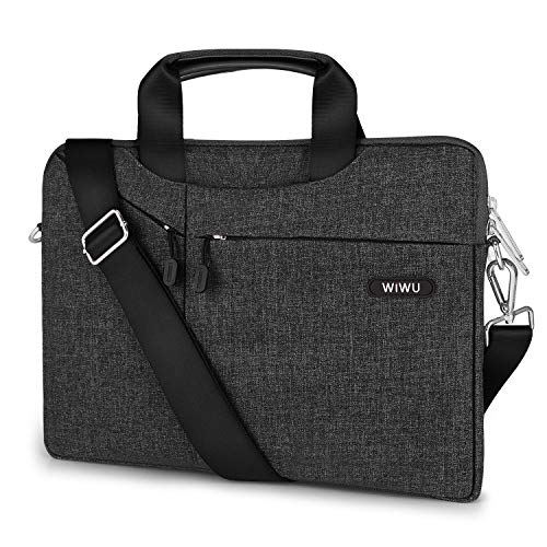 EKOOS 11,6/12 Zoll Laptop Notebook Schultertasche, 3 Way Business Aktenkoffer Tasche Hülle Sleeve wasserdichte Notebook Sleeve für Microsoft Surface MacBook Air 11,6 Zoll (11.6/12, Schwarz)