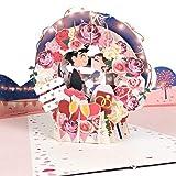 PaperCrush® Pop-Up Karte Hochzeit Brautpaar [NEU!] - Lustige 3D Hochzeitskarte, Geschenkkarte für Standesamt - Romantische...