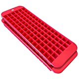 Mini Ice Cube Trays - 2 Pack - 90 Square Shaped Molds