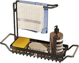 YunNasi Organiseur d'évier de cuisine extensible pour évier de cuisine avec rail de suspension pour torchon en acier inoxy...