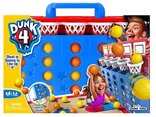 Dunk 4 - Active Party Game for Kids, Basketball and Connect 4 in one