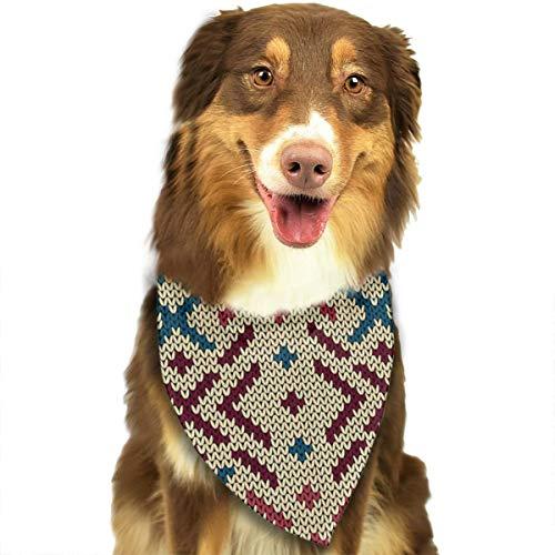 iuitt7rtree Dreieckstuch, gestrickt, nahtlos, für Katzen und Hunde