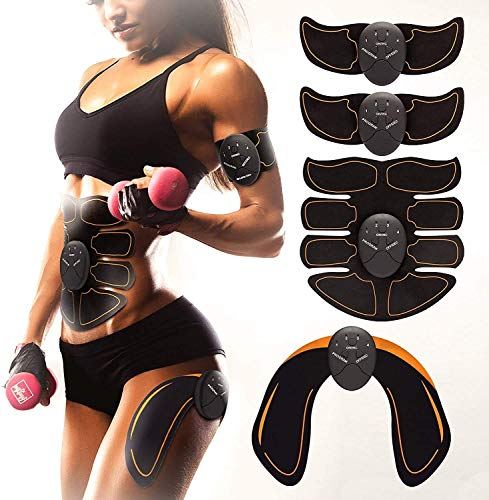 Bon-Su Muscle Toner - Abdominal Toning Belt Fit for Body Arm - Abs Trainer Muscle Toner - Muscle Stimulator - Electrical Muscle Stimulation Abs Stimulator at Home Office Gymnasium or Gym