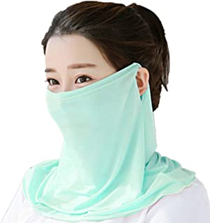 Sun Protection Face Mask Single Layer Neck Gaiter Lightweight Summer Protection Scarf Bandana UPF 50+UV Protective
