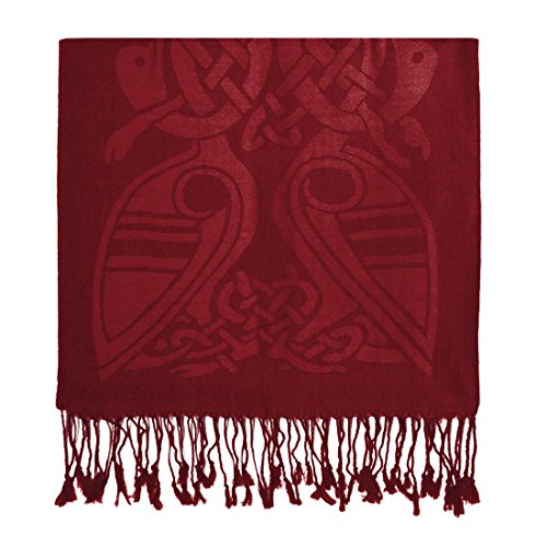 Patrick Francis Pashmina Scarf Book of Kells Design from Ireland Red