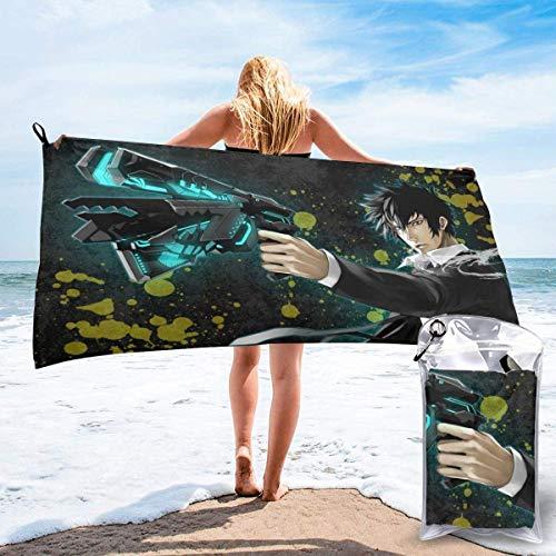 AOOEDM Anime PsychoPass Toalla de baño de secado rápido, microfibra, portátil, liviana, de viaje, deportiva, para acampar, mochilero, senderismo, playa, YOG, natación, gimnasio, deportes, natación, 27