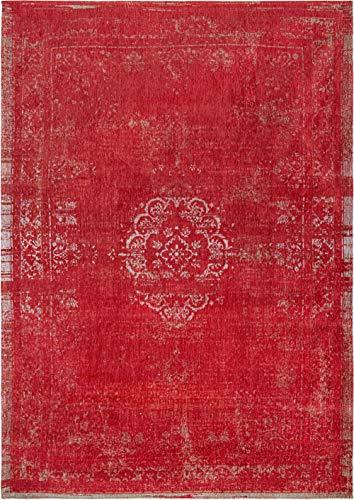 Louis de Poortere Teppich Fading World Medaillon 9147, 80 x 150 cm, Kirsche