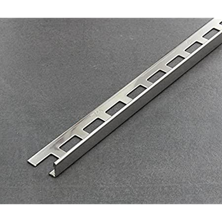 L-Profil Edelstahlschiene Fliesenprofil Fliesenschiene Edelstahl V2A L250cm 8mm geb/ürstet